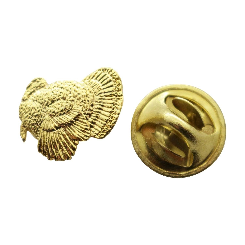 Turkey Mini Pin ~ 24K Gold ~ Miniature Lapel Pin ~ Sarah's Treats & Treasures