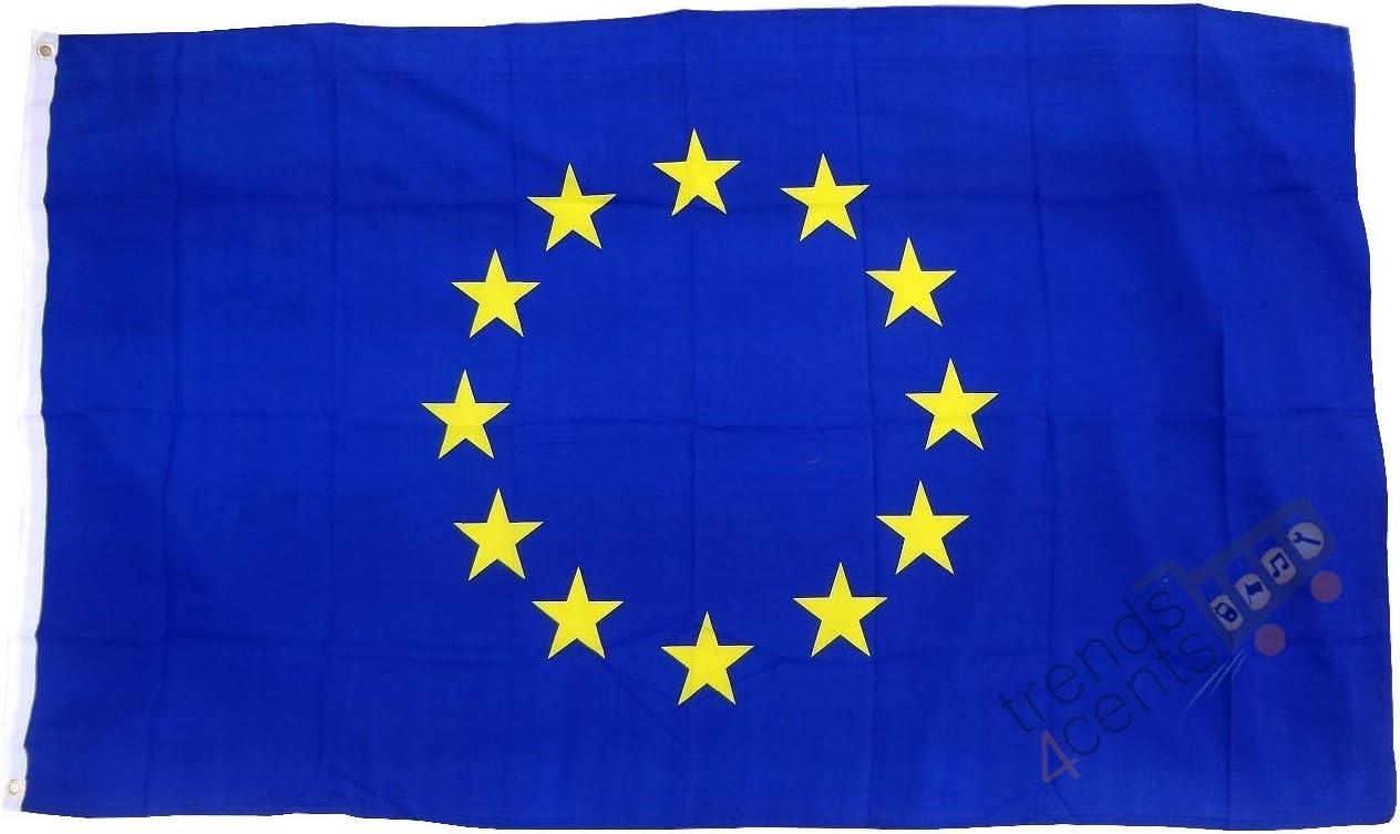 Unbekannt Flagge//Fahne Europa Staatsflagge//Landesflagge//Hissflagge mit /Ösen 150x90 cm
