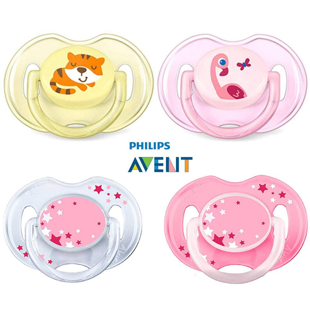 0-6 Months 2 Pack SCF182//33 Assorted Philips Avent BPA-Free Animal Soothers