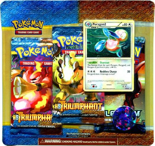 UPC 820650105531, Pokemon Card Game Legend HS Triumphant Special Edition 3 Booster Packs 1 Rand...