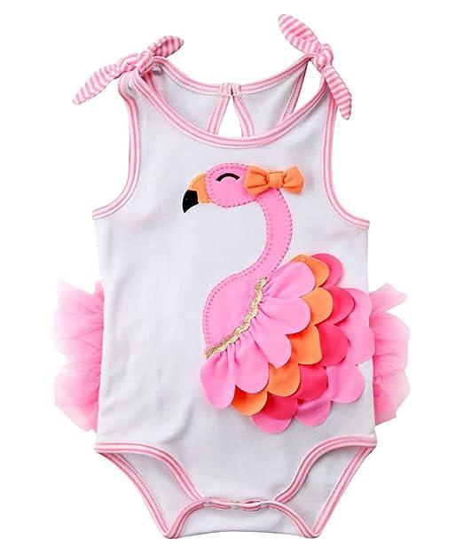 Amazon.com: Bebé recién nacido algodón para niñas Flamingo ...