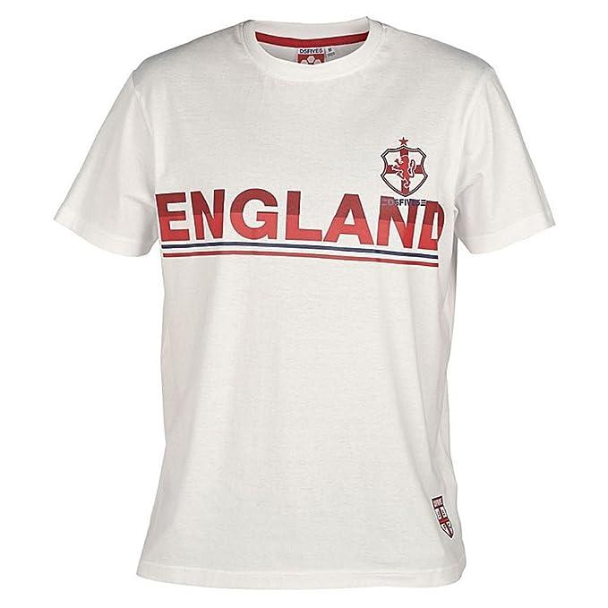 D555 Duke Grande Tamaño King Size Inglaterra Copa Mundial de Fútbol Camiseta Cuello en Pico -