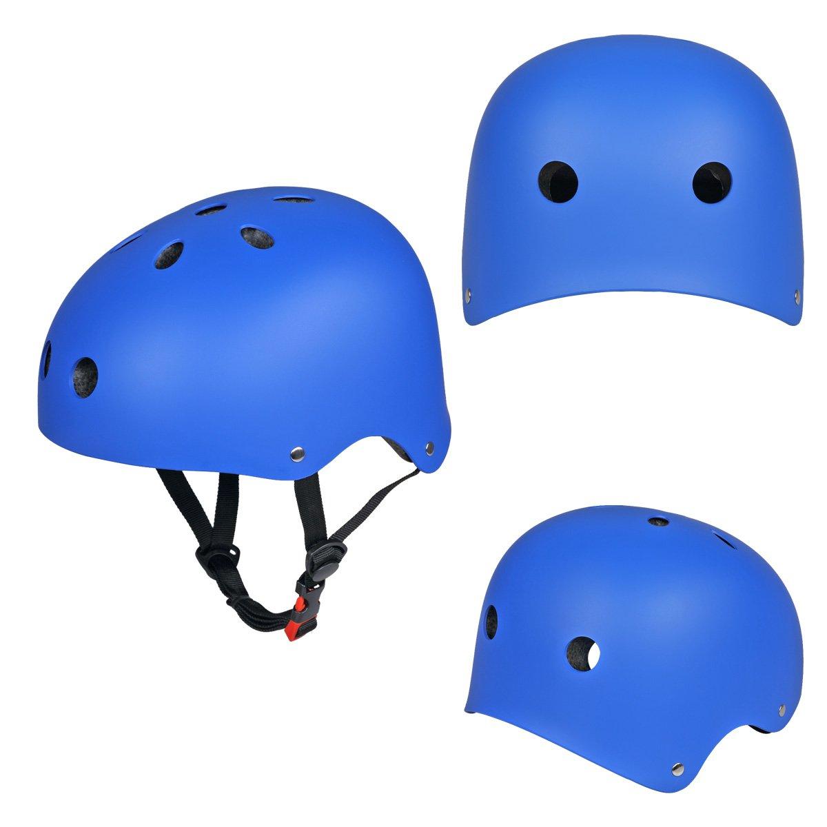 SymbolLife Verbesserung Skate/BMX Helm, Skateboarding Helmet fahrradhelm mit Drehrad-Anpassungs Systeme geeignet für Kinder/Jugendlicher/Erwachsenen CE Zulassung