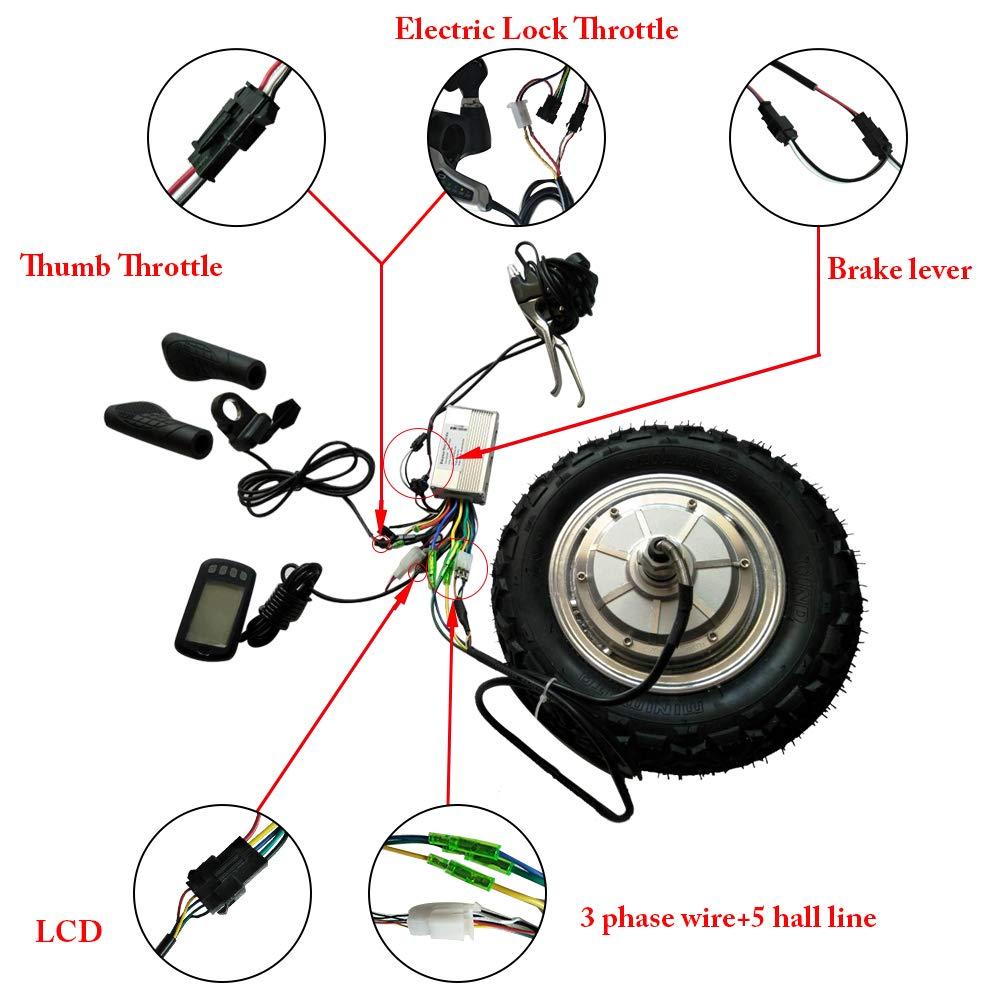 hui hui wen 10'' 800W 36v electric wheel-motor, electric motor skateboard,electric scooter kit