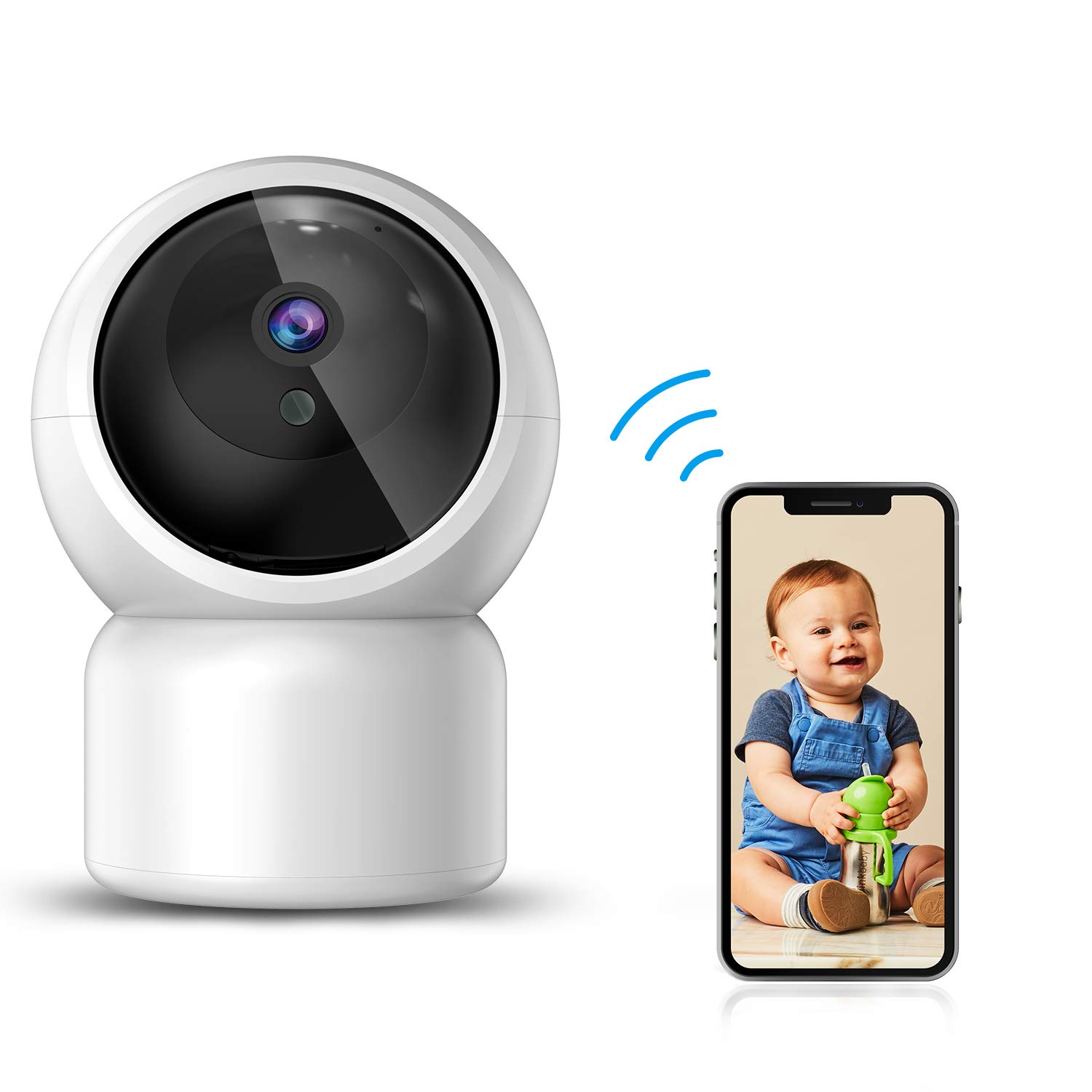 WiFi IP Camera Baby Monitor by JUMPER 1080P Wireless Home Security Camera with Night Vision Motion Detection 2-Way Audio for Baby, Elder, Pet Camera Monitor