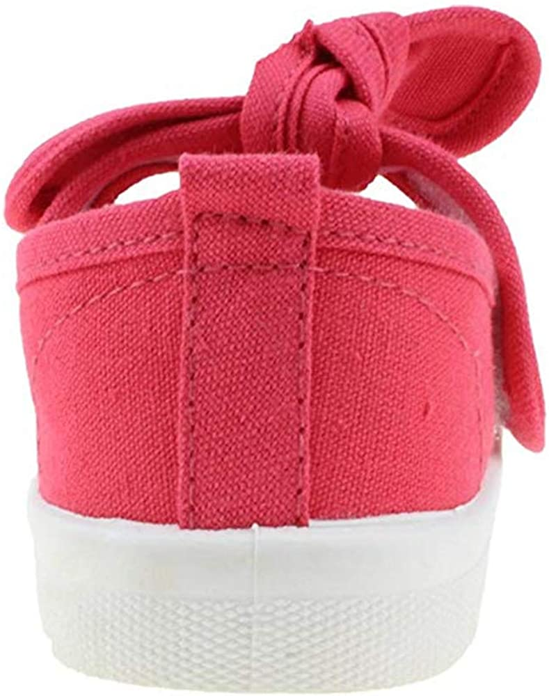 Babelvit Comfortable Mesh Toddler Kids Girls Boys Soft Shoes Lightweight Mary Jane Flat Fashion Sneakers with Bows School Dress Canvas Shoe Gifts for Chidren
