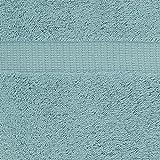Pinzon Organic Cotton Towels 6 Piece Set, Spa Blue
