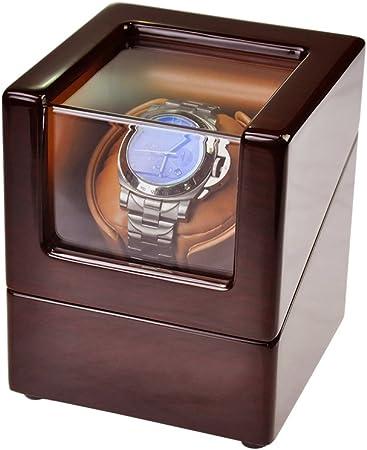 Reloj Winder Box para relojes automáticos o Rolex doble espacioso para cualquier tamaño, artesanía bambú madera caja, AC o alimentado por batería súper silencioso motor japonés por Watch Winder Smith: Amazon.es: Hogar