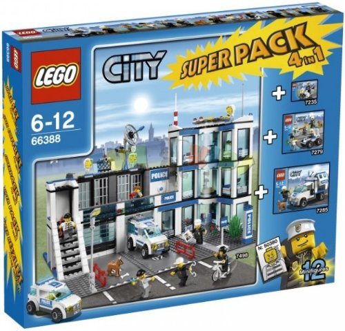 LEGO CITY 66388 4in1 POLICE STATION SUPERPACK 7498  7285  7235