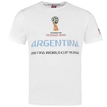 FIFA World Cup 2018 Argentina Graphic T-Shirt Mens White Football Soccer  Top Tee Medium 80667aa8f