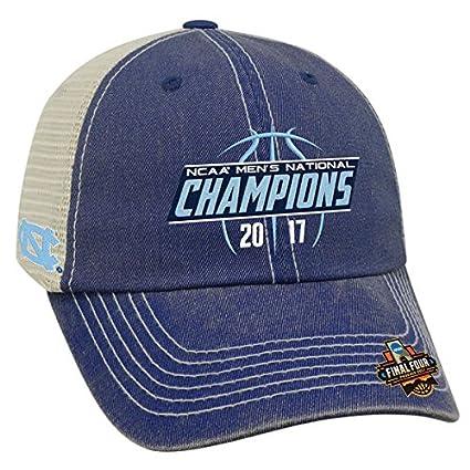 30195fe848d Amazon.com   North Carolina Tar Heels 2017 NCAA Men s Basketball National  Champions Trucker Adjustable Hat - Navy   Sports   Outdoors