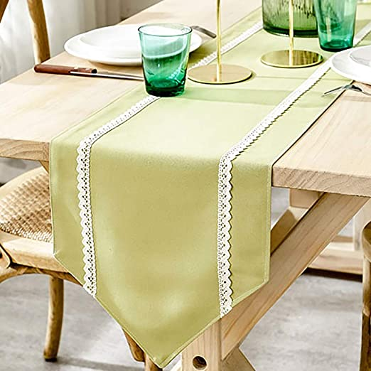 Caminos De Mesa Gris Modernos Efecto Lino Lavable for ...