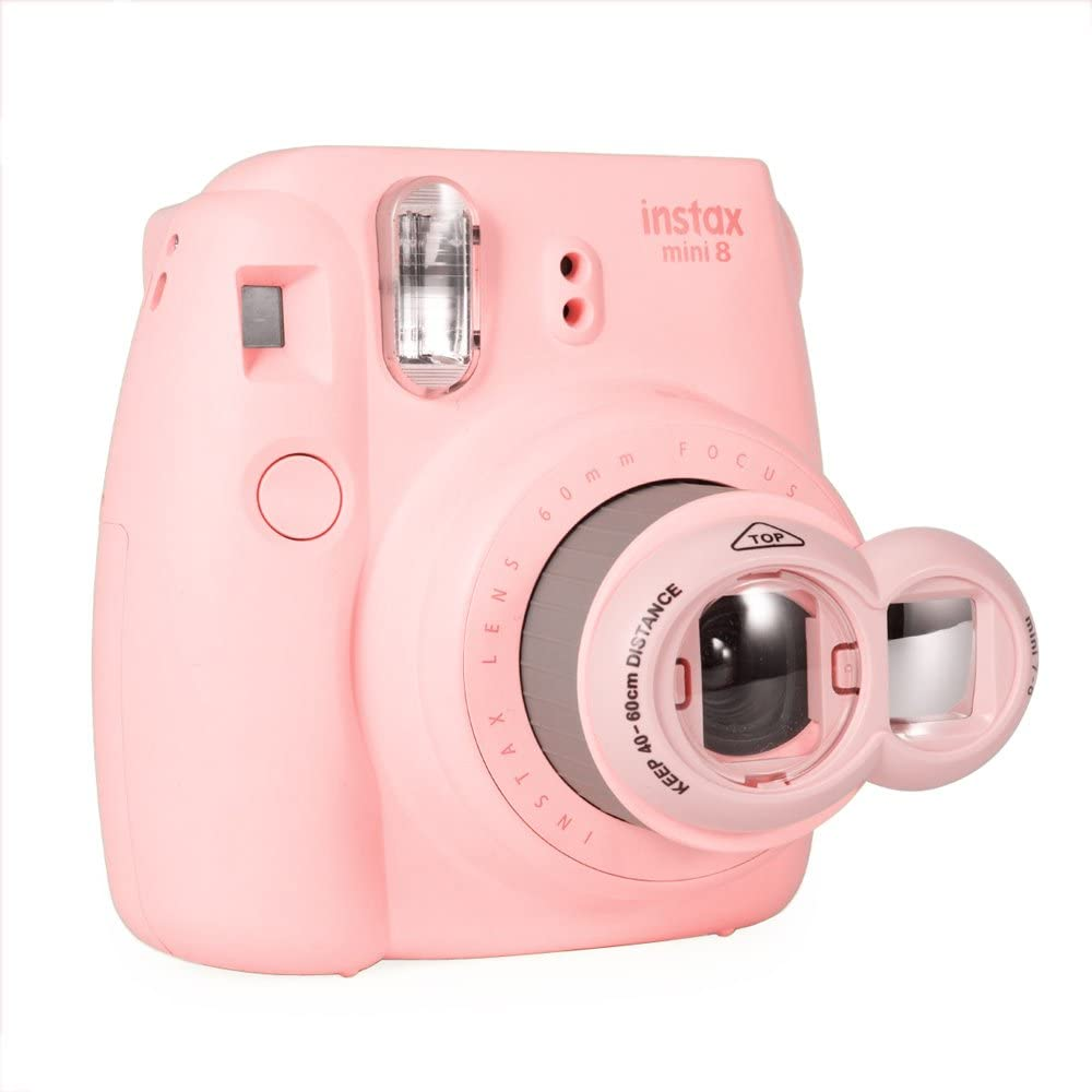 Pink FoRapid Instax Mini Selfie Lens Close Up Lens with Self-Portrait Mirror Compatible with Fujifilm Instax Mini 8 Mini 7s /& Polaroid 300 Instant Film Cameras