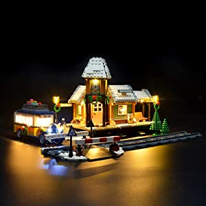 LIGHTAILING Light Set for (Creator Expert Winter Village Station) Building Blocks Model - Led Light kit Compatible with Lego 10259(NOT Included The Model)