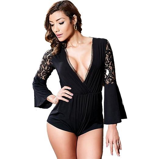 64745365bac Beauty Garden Women Rompers Jumpsuits Mini Solid Off Shoulder V Neck Short  Sexy Lingerie