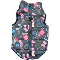Howstar Pet Camouflage Cold Weather Coat, Small Dog Vest Harness Puppy Winter Padded Outfit…
