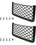 JAVOedge [2 Pack, JE Medium/Large Sizes, Hook and Loop Fastener Storage Net Car Accessories Interior Organizers, Car…