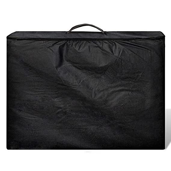 vidaXL Mesa de Masaje Camilla de Masaje Aluminio Plegable 4 Zonas + Bolsa, Negro