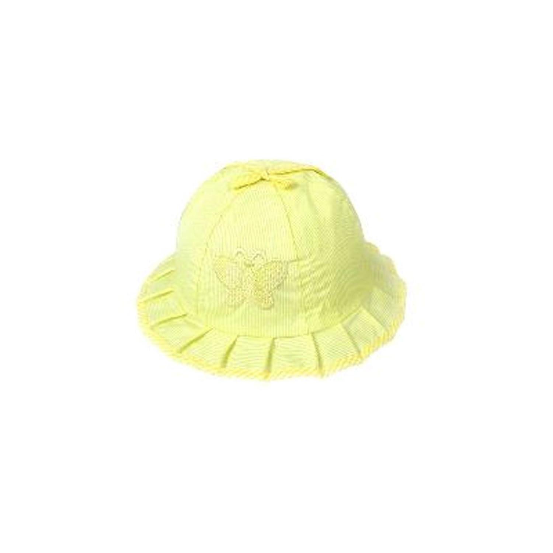 Bebés lindos niños pequeños rayas y mariposas Sun del verano bordó el sombrero del capo Simply Gorgeous