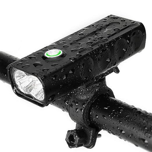 TTK AUTO Luz De Bicicleta, Luz De 4 Modos Lámpara De Bicicleta ...