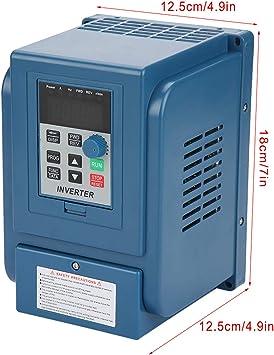 1 StÜck Ac 380 V 1 5kw 4a Frequenzumrichter Vfd 3 Phase Drehzahlregler Inverter Motor Baumarkt