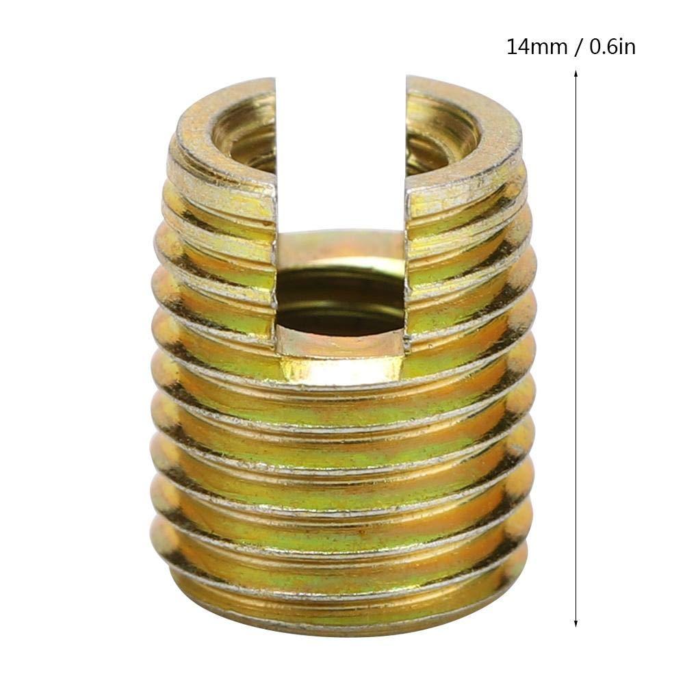 Inner M10*1.5 Outer M14*1.5: 18mm // 0.7in Inserciones de Rosca 20 Piezas 302 Acero al Carbono Autorroscante Tornillo de Inserci/ón de Rosca Reparaci/ón de Accesorios
