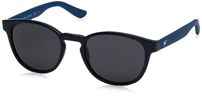Tommy Hilfiger Unisex-Erwachsene Sonnenbrille TH 1422/S IR W5D, Blau (Blu/Grey Blu), 52