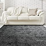 iCustomRug Priscilla Shaggy Soft Rug 9ft0in x 12ft0in (9′ X 12′) In Black & White Review
