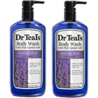 Dr Teal's Pure Epsom Salt Body Wash Soother & Moisturize With Lavender 24 oz (Pack of 2)