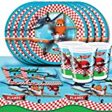 Disney's Planes Movie Children's Birthday Complete Party Tableware Pack for 16