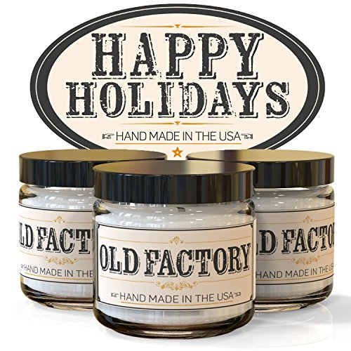 Scented Candles - Happy Holidays - Set of 3: Christmas Tree, Candy Cane, and Gingerbread - 3 x 4-Ounce Soy Candles - Each Votive Candle is Handmade in the USA with only the Best Fragrance Oils (Candy Cane Numbers)