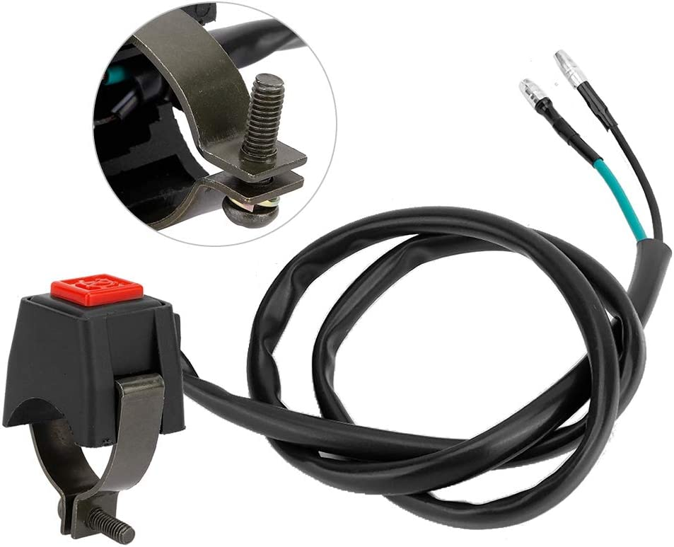 22mm 7//8 Inch Horn Button Switch Universal Motorcycle Handlebar Button with Cable Horn Button Switch