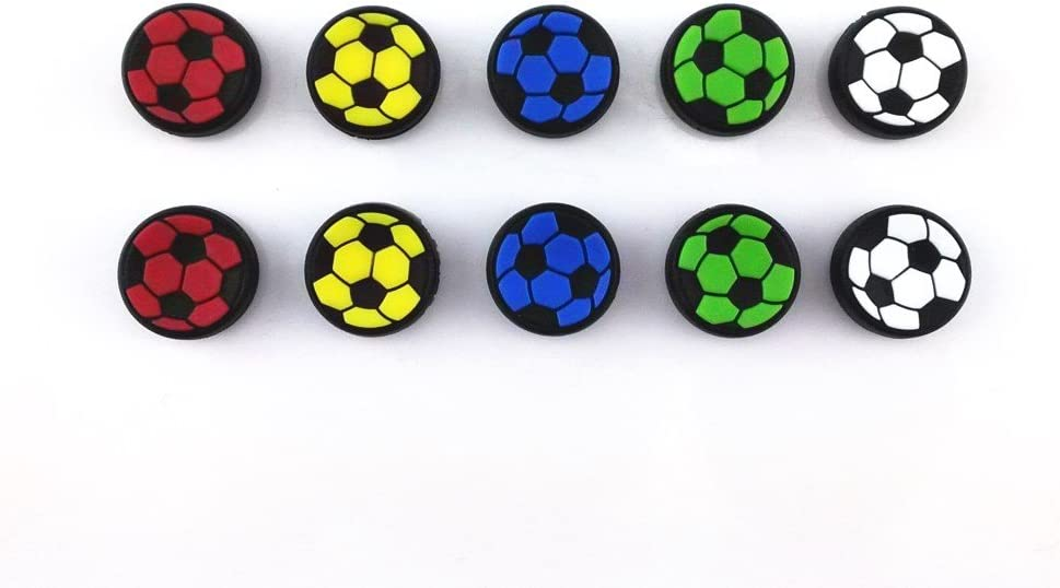 yueton 5 Pairs Replacement Football Style Black Analog Controller Joystick Thumb Stick Grip Cap Cover for Sony PlayStation 4 Controller