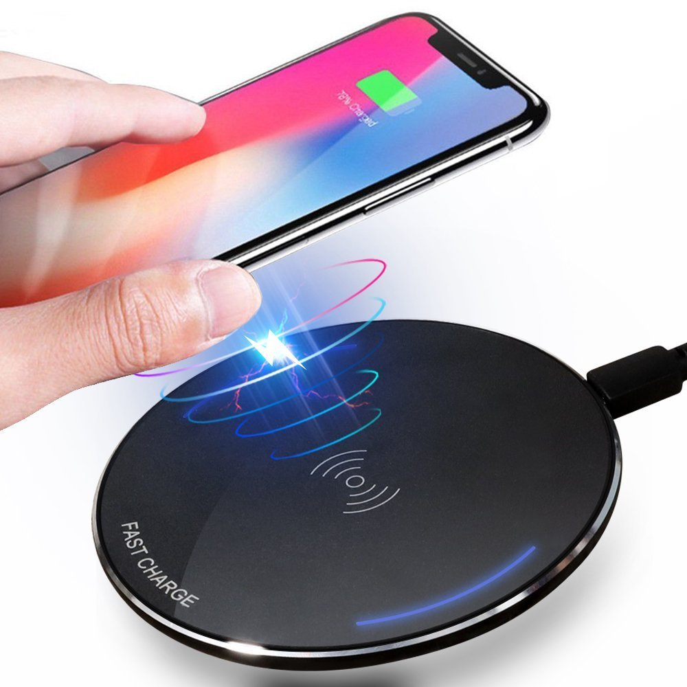 (10W Fast) ivolks Wireless Charger iPhone X/8/8 Plus Slim Qi Wireless Charging Samsung Galaxy S9/9+/S8/S8+ IV-RM-D17