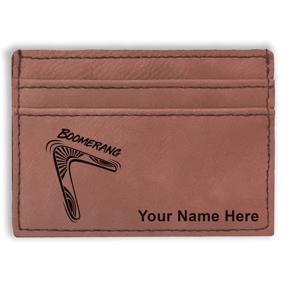 Money Clip Wallet Boomerang Personalized Engraving Included