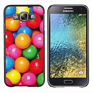 Caramelo Colorido patrón reflexivo rosa- Metal de aluminio y de plástico duro Caja del teléfono - Negro - Samsung Galaxy E5 / SM-E500