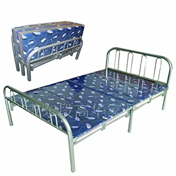 home source industries butterfly metal folding twin bed with padding silver - Metal Frame Twin Bed