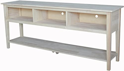 International Concepts Unfinished Entertainment/TV Stand