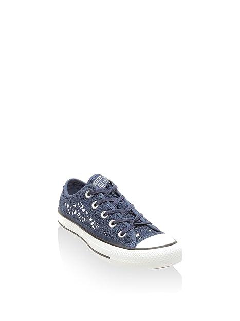 Converse Zapatillas All Star Ox Crochet Azul EU 39.5: Amazon.es: Zapatos y complementos