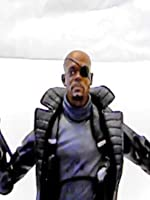 """Marvel Legends NICK FURY (movie version) 6"""" inch Review (Hasbro Captain America series) toy action figure [OV]"""