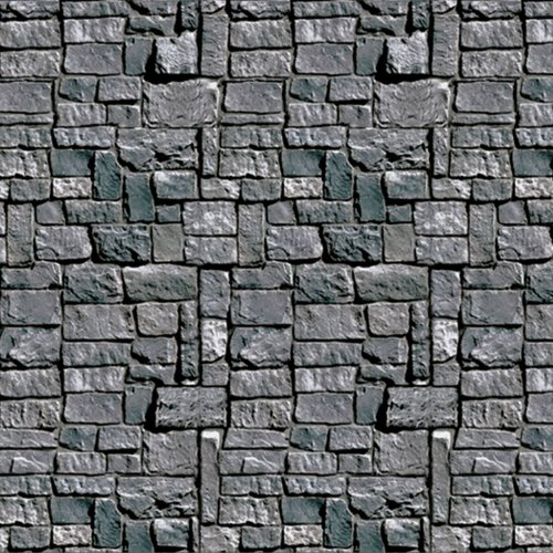 Beistle Stone Wall Backdrop Party Accessory | 4-Feet by 30-Feet | (1-Count) -
