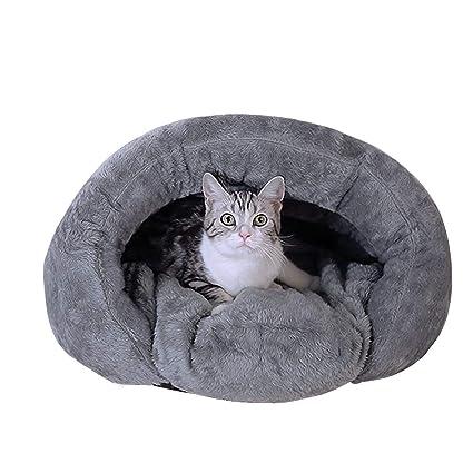 Bwiv Saco de Dormir Antideslizante para Mascotas (Perro o Gato) con cojín – Otoño e Invierno – para Interiores y Lugares de Descanso – 2 Colores/2 ...