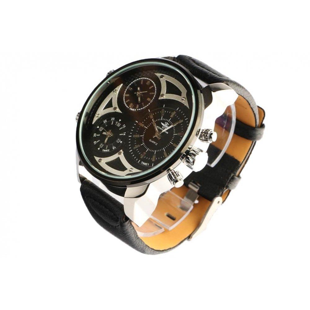 Grosse reloj cronógrafo Pulsera Piel Negro Kronos - hombre: Amazon.es: Relojes