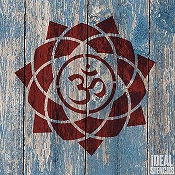 OM mandala Símbolo Plantilla reutilizable casa pared decoración, Arte y Artesanía Estarcido Pintura paredes Tela