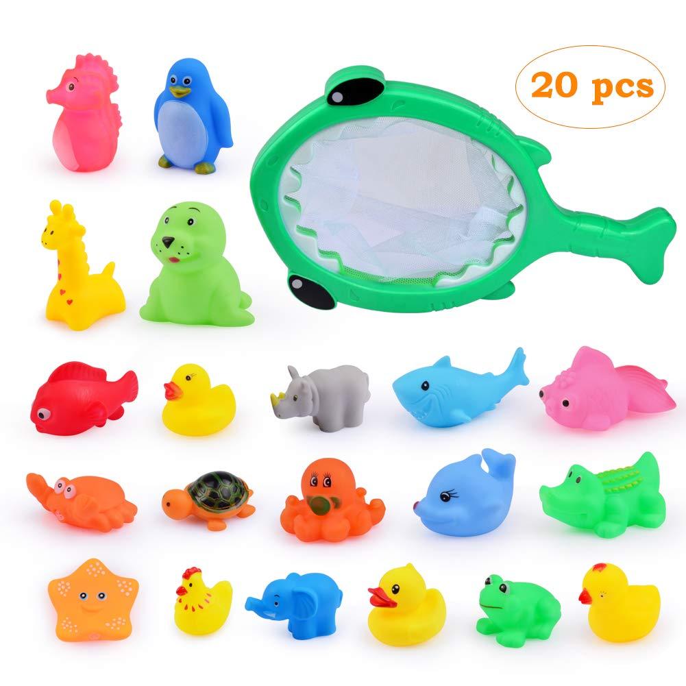 8 Pcs Bath Animal Child Baby Kids Bath Toy Rubber Float Squeeze Bath Swim Toy Baby
