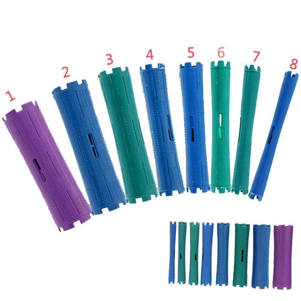 XYLUCKY Herramientas de belleza cabello pelo grueso plástico del pelo rizado herramienta bar mágico del pelo rulos ondulación permanente fría palo grueso paquete stick de 10 wexe.com