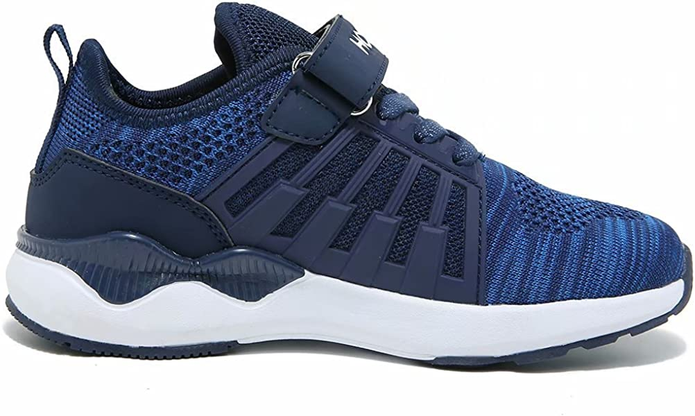 | HOBIBEAR Kids Breathable Knit Sneakers Lightweight Mesh Athletic Running Shoes | Running