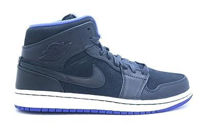 purchase cheap 71669 8b7c3  629151-018  AIR Jordan AJ 1 MID Nouveau Mens Sneakers AIR JORDANBLACK