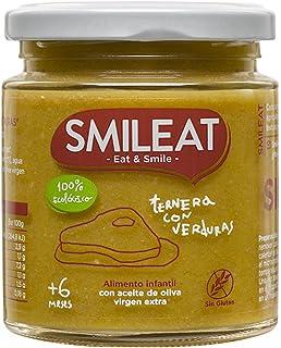Smileat, Tarrito de carne de ternera con verduras, comida para bebé - 230 gr