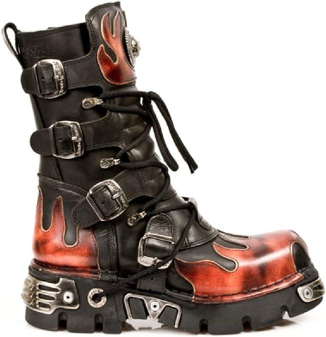 New Rock Rock Punk Gothic Hashtag Black Leather Platform Boots